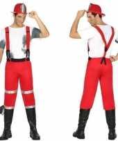 Brandweerman joe carnavalskleding met bretels voor heren