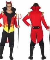 Carnavalskleding duivel met vlammen