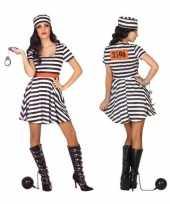 Gevangene boef bonnie carnavalskleding jurk voor dames