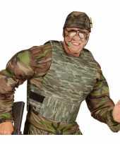 Kogelvrij leger camouflage vest carnavalskleding accessoire
