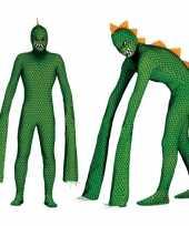 Monster reptielen carnavalskleding met lange armen voor heren