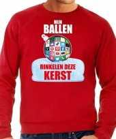 Rinkelende kerstbal sweater kerst carnavalskleding mijn ballen rinkelen deze kerst rood voor heren