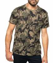 Soldaten leger carnavalskleding camouflage shirt heren